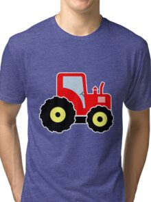 Red toy tractor Tri-blend T-Shirt