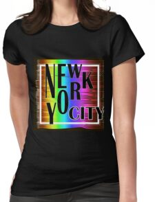 New York typography Womens Fitted T-Shirt