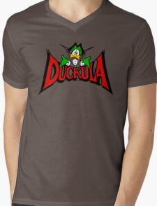 DUCKULA Mens V-Neck T-Shirt