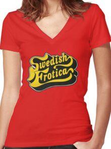 swedish Women's Fitted V-Neck T-Shirt