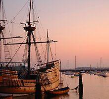Mayflower at Sunrise by John  Kapusta