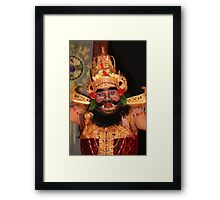 Bali dancer in Ubud Framed Print