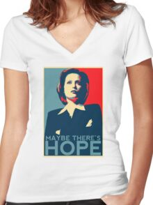 Scully: Maybe There's Hope Women's Fitted V-Neck T-Shirt