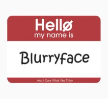 My Name's Blurryface Nametag Kids Clothes
