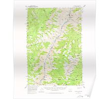 USGS Topo Map Idaho He Devil 239104 1957 62500 Poster