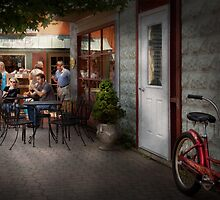 Storefront - Frenchtown, NJ - At a quaint Bistro  by Mike  Savad