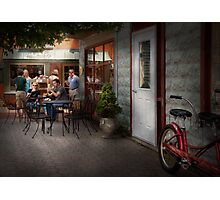 Storefront - Frenchtown, NJ - At a quaint Bistro  Photographic Print