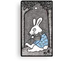 White Rabbit Fanfare Canvas Print