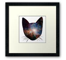 Galaxy cat Framed Print