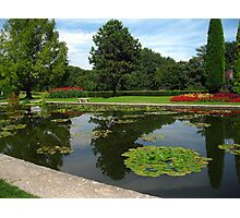 The Water Gardens - Last glance - Sigurtà - Italy Photographic Print