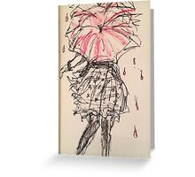 All the umbrellas in London  Greeting Card