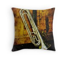 Bugle Time Throw Pillow