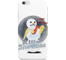 killer snowman iPhone Case/Skin