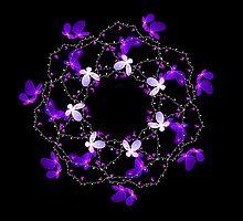 Fractal Flower Wreath by Beatriz  Cruz