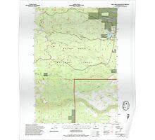 USGS Topo Map Oregon Rock Creek Reservoir 281296 1996 24000 Poster
