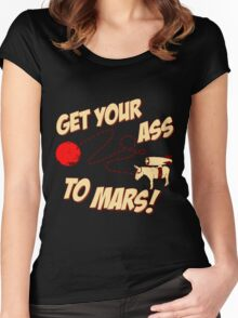 Get Your Ass To Mars Women's Fitted Scoop T-Shirt