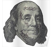 Benjamin Franklin with tattoos Poster