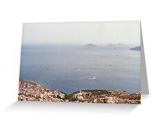 Seascape, Kalkan, Turkey Greeting Card