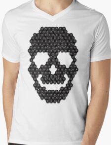 Bike Chain Skull Mens V-Neck T-Shirt
