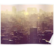 Sunset over Cairo Poster