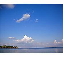 Blue Skies over Lake Ontario Photographic Print
