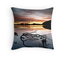 Strahan back beach Throw Pillow