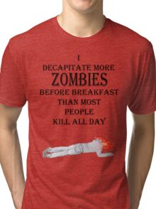 zombie breakfast Tri-blend T-Shirt