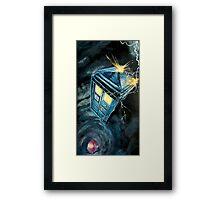 Tardis & Time Vortex Framed Print
