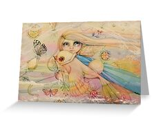 rainbow angel Greeting Card