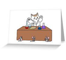 Scientist Cat Greeting Card