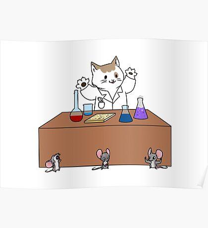 Scientist Cat Poster