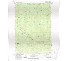 USGS Topo Map Oregon Sunset Spring 281706 1979 24000 Poster
