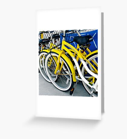Yellow Bicycles Greeting Card