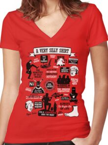Monty Python Quotes Women's Fitted V-Neck T-Shirt