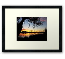Adachi Sunset Framed Print