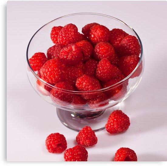 Raspberries by Ray Clarke