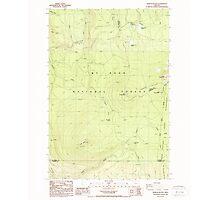 USGS Topo Map Oregon Pinhead Buttes 281099 1986 24000 Photographic Print