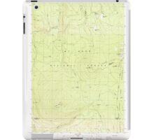 USGS Topo Map Oregon Pinhead Buttes 281099 1986 24000 iPad Case/Skin