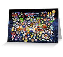 Mega Man Masters Greeting Card