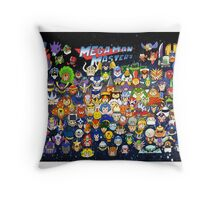 Mega Man Masters Throw Pillow