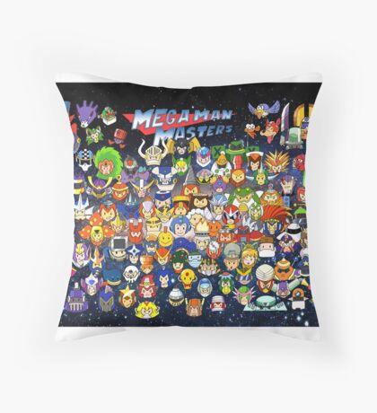 Mega Man Masters Throw Pillow