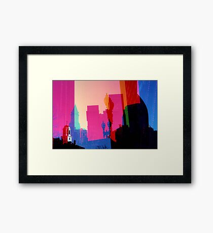 City Tint Framed Print