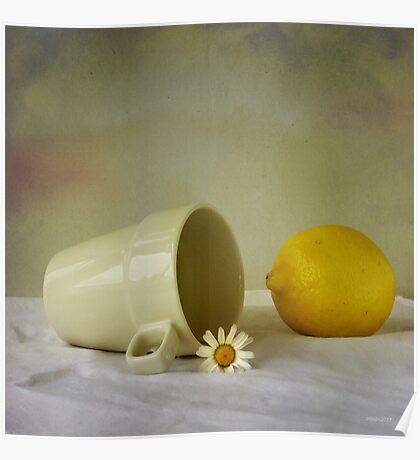 Still life with one flower Poster