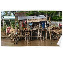 Stilt House - Mekong Delta Poster