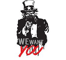 """Uncle Sam """"We want you"""" Photographic Print"""
