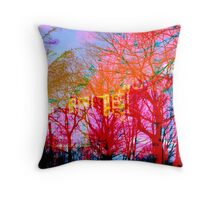 Vibrant Tree Life Throw Pillow