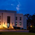 Evening Twilight Rural Town Courthouse by BenSellars