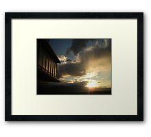 """Architectural Sunset - Colorado Springs, Colorado"" Framed Print"