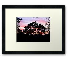 Pink sky at night Framed Print
