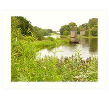 The Weir's Bridge Art Print